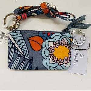 Vera Bradley Zip ID Case & Lanyard Tropical